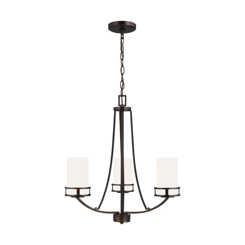 Generation Lighting 3121603-710 Sea Gull Robie 3 Light Chandelier in Burnt Sienna