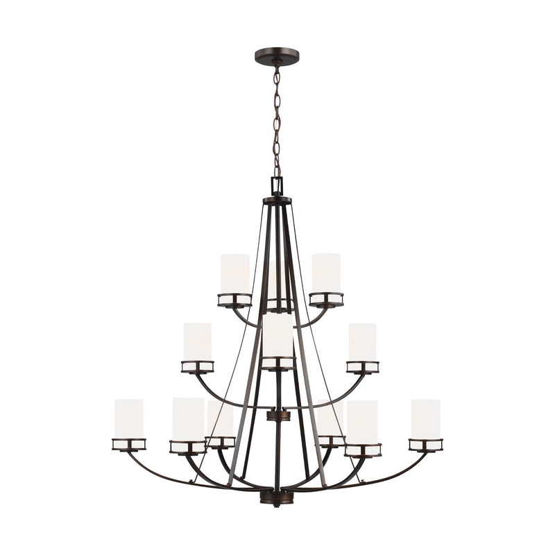 Generation Lighting 3121612-710 Sea Gull Robie 12 Light Chandelier in Burnt Sienna
