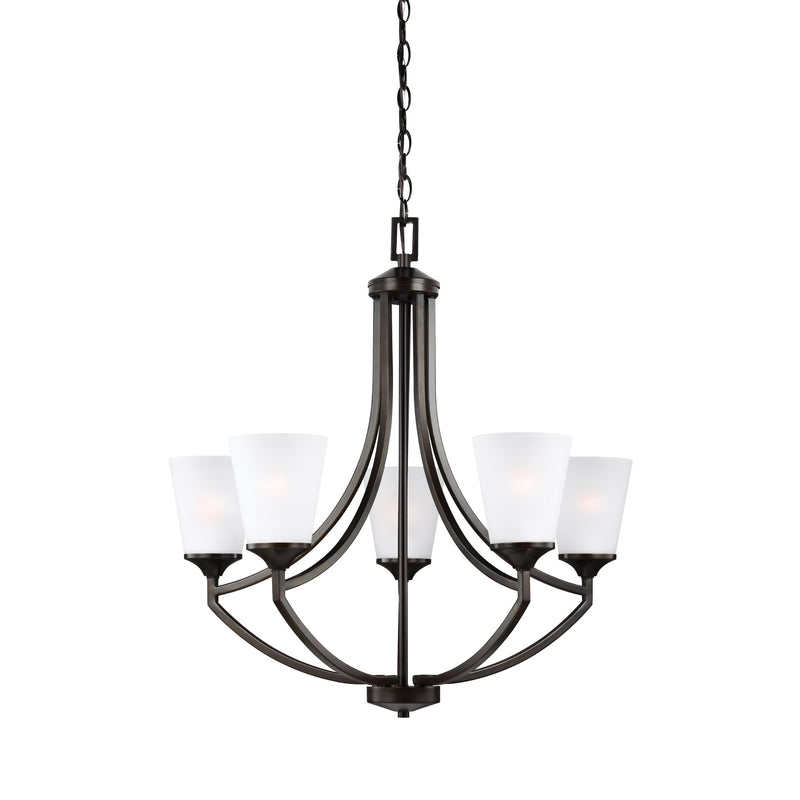 Generation Lighting 3124505-710 Sea Gull Hanford 5 Light Chandelier in Burnt Sienna