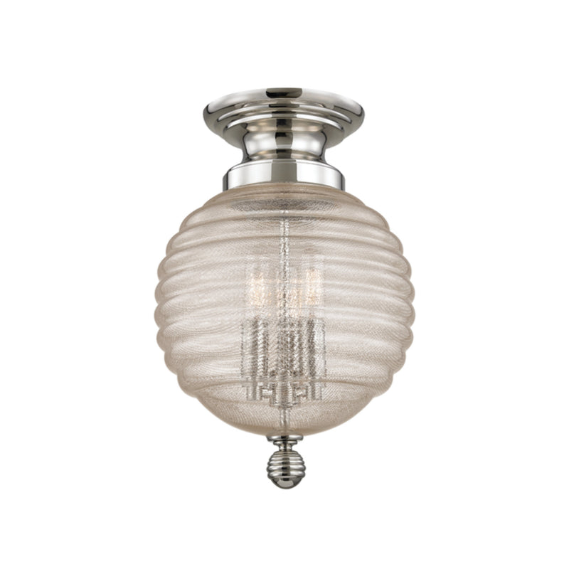 Hudson Valley Lighting 3200-PN Coolidge 3 Light Flush Mount in Polished Nickel