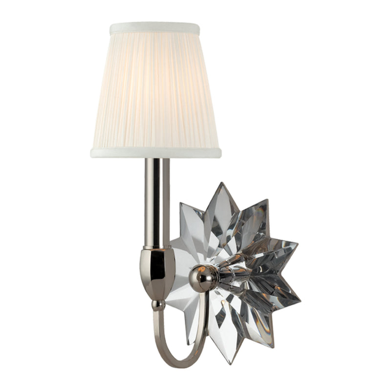 Hudson Valley Lighting 3211-PN Barton 1 Light Wall Sconce in Polished Nickel