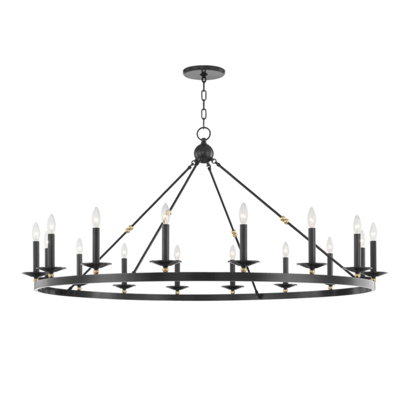 Hudson Valley Lighting 3216-AOB Allendale 16 Light Chandelier in Aged Old Bronze