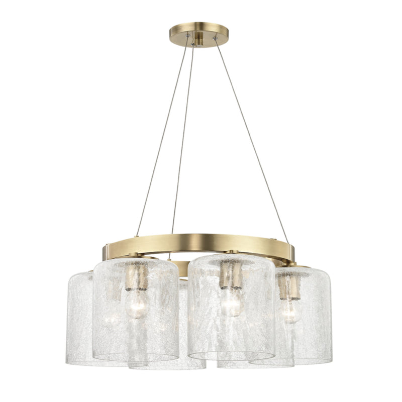Hudson Valley Lighting 3224-AGB Charles 6 Light Chandelier in Aged Brass