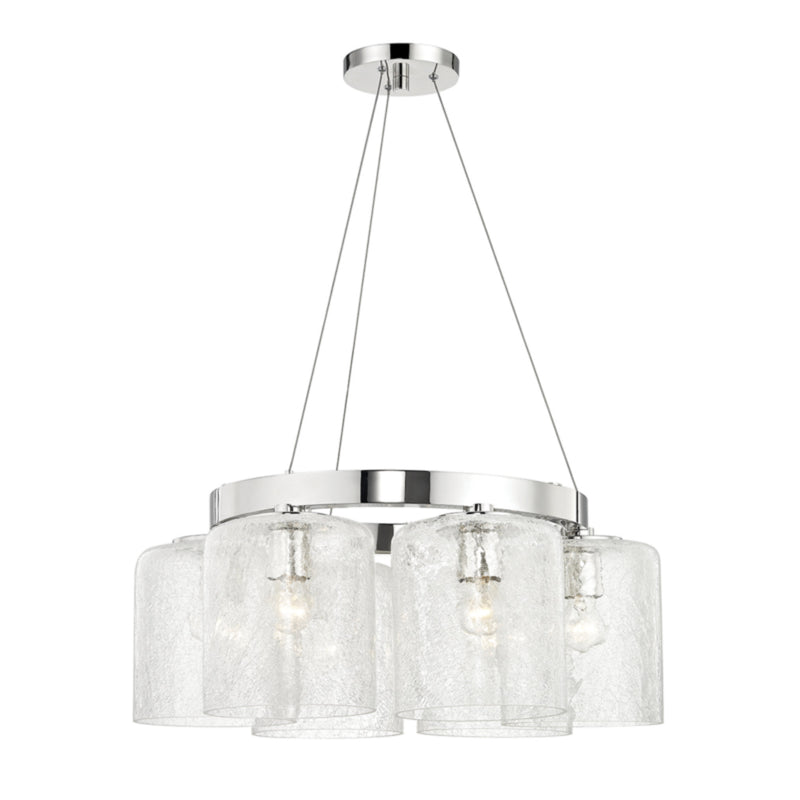 Hudson Valley Lighting 3224-PN Charles 6 Light Chandelier in Polished Nickel