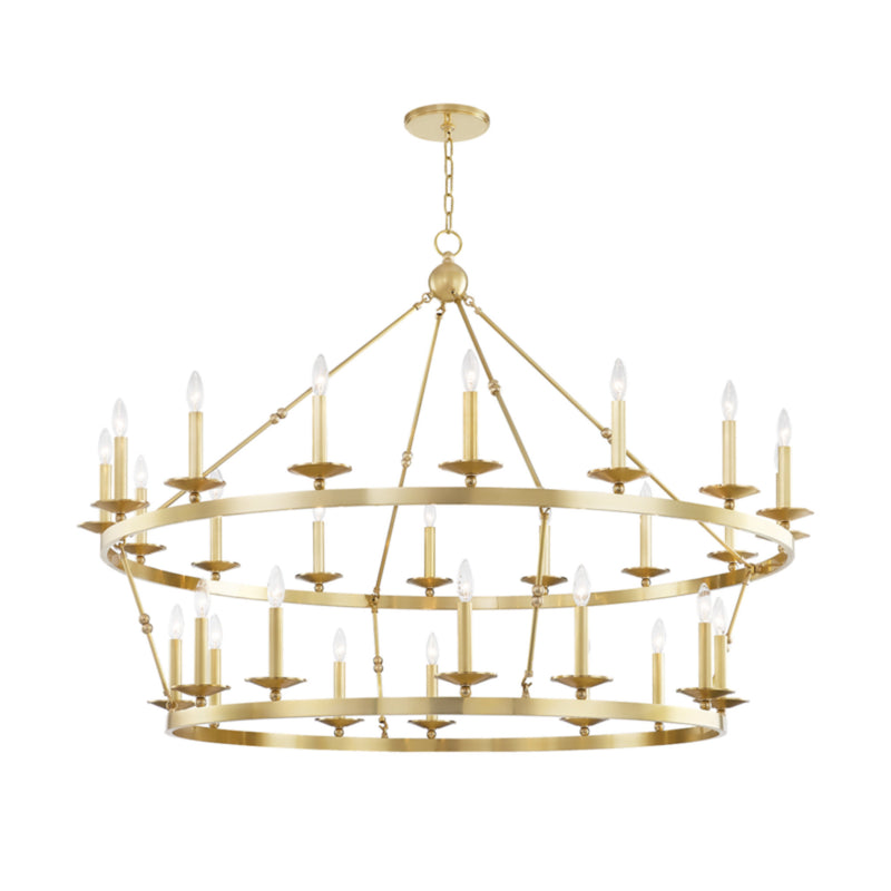 Hudson Valley Lighting 3228-AGB Allendale 28 Light Chandelier in Aged Brass