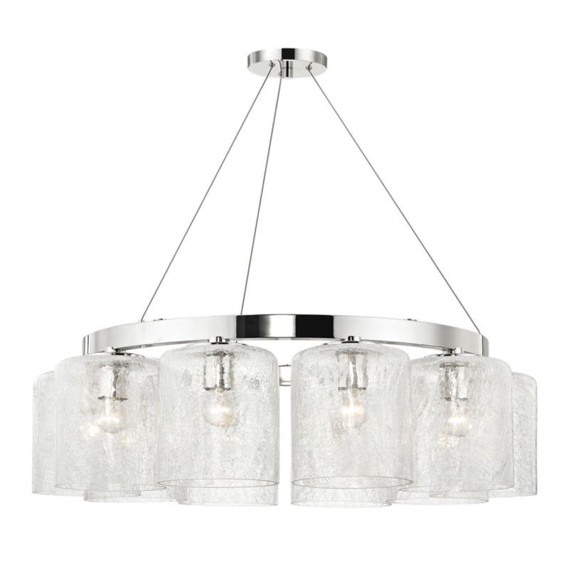 Hudson Valley Lighting 3234-PN Charles 10 Light Chandelier in Polished Nickel