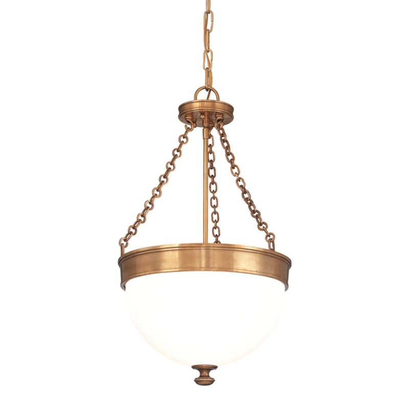 Hudson Valley Lighting 324-AGB Barrington 3 Light Pendant in Aged Brass