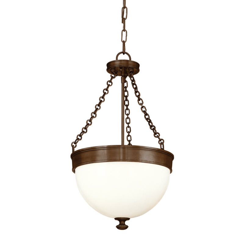 Hudson Valley Lighting 324-HB Barrington 3 Light Pendant in Historic Bronze