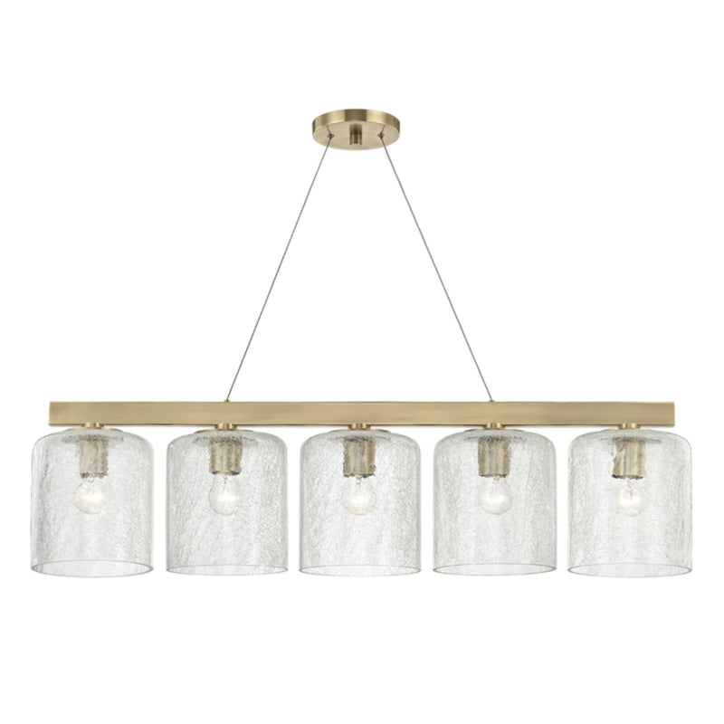 Hudson Valley Lighting 3240-AGB Charles 5 Light Island Light in Aged Brass