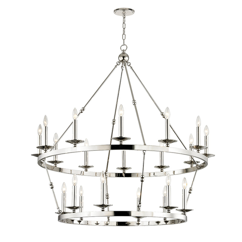 Hudson Valley Lighting 3247-PN Allendale 20 Light Chandelier in Polished Nickel