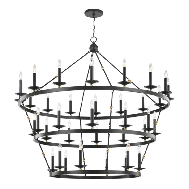 Hudson Valley Lighting 3258-AOB Allendale 36 Light Chandelier in Aged Old Bronze