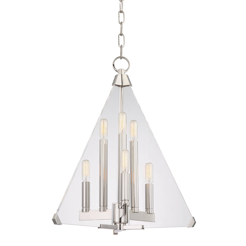 Hudson Valley Lighting 3336-PN Triad 6 Light Pendant in Polished Nickel