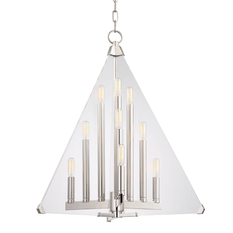 Hudson Valley Lighting 3339-PN Triad 9 Light Pendant in Polished Nickel