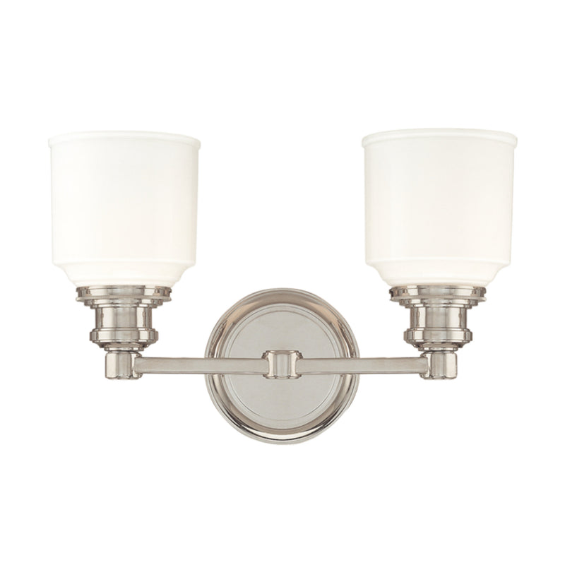 Hudson Valley Lighting 3402-PN Windham 2 Light Bath Bracket in Polished Nickel