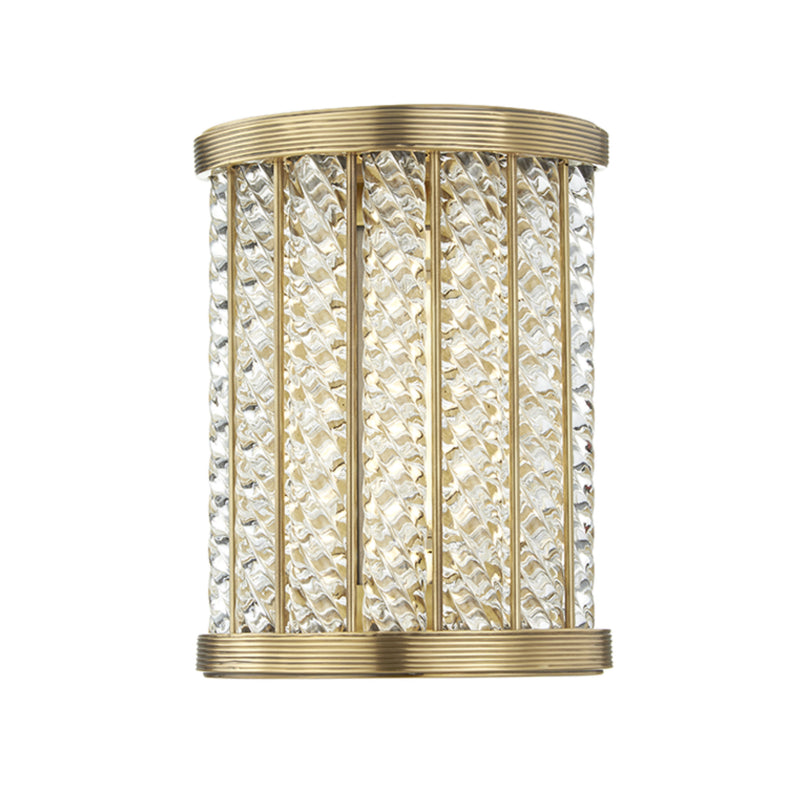 Hudson Valley Lighting 3408-AGB Shelby Led Small Bath Bracket in Aged Brass