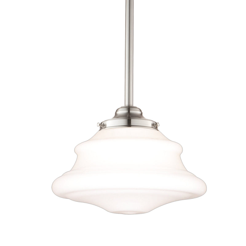 Hudson Valley Lighting 3409-SN Petersburg 1 Light Pendant in Satin Nickel