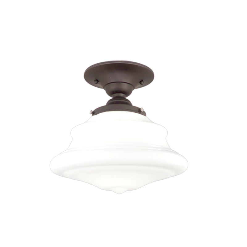 Hudson Valley Lighting 3409F-OB Petersburg 1 Light Semi Flush in Old Bronze