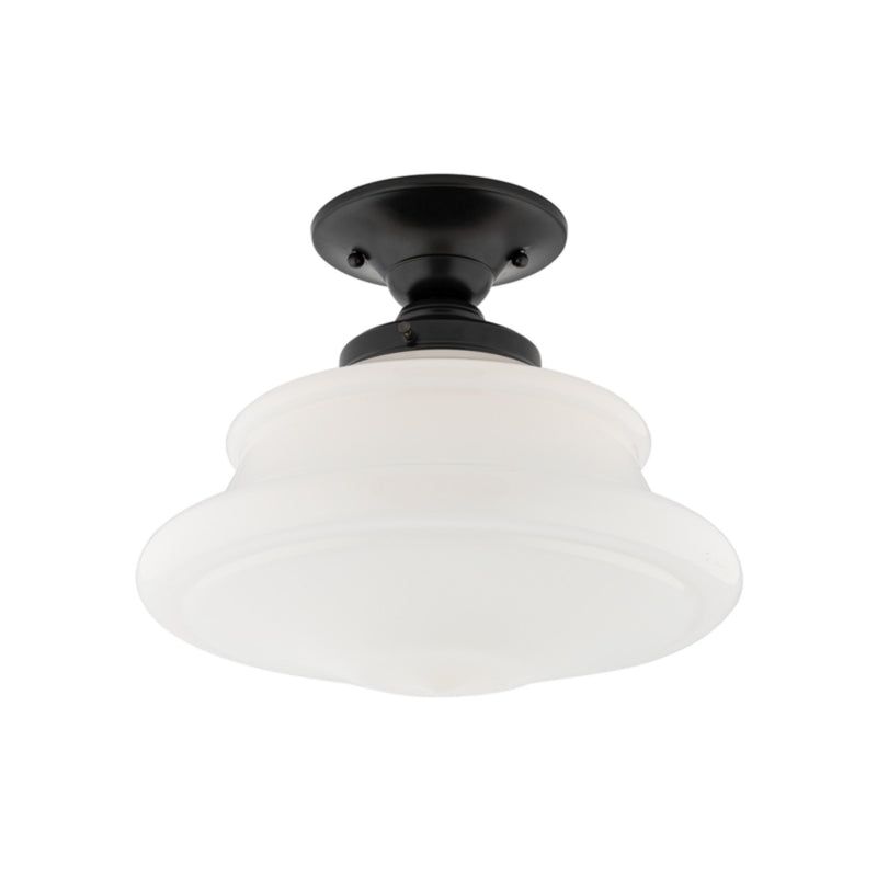 Hudson Valley Lighting 3412F-OB Petersburg 1 Light Semi Flush in Old Bronze