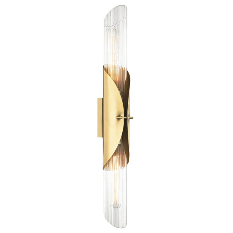Hudson Valley Lighting 3526-AGB Lefferts 2 Light Wall Sconce in Aged Brass