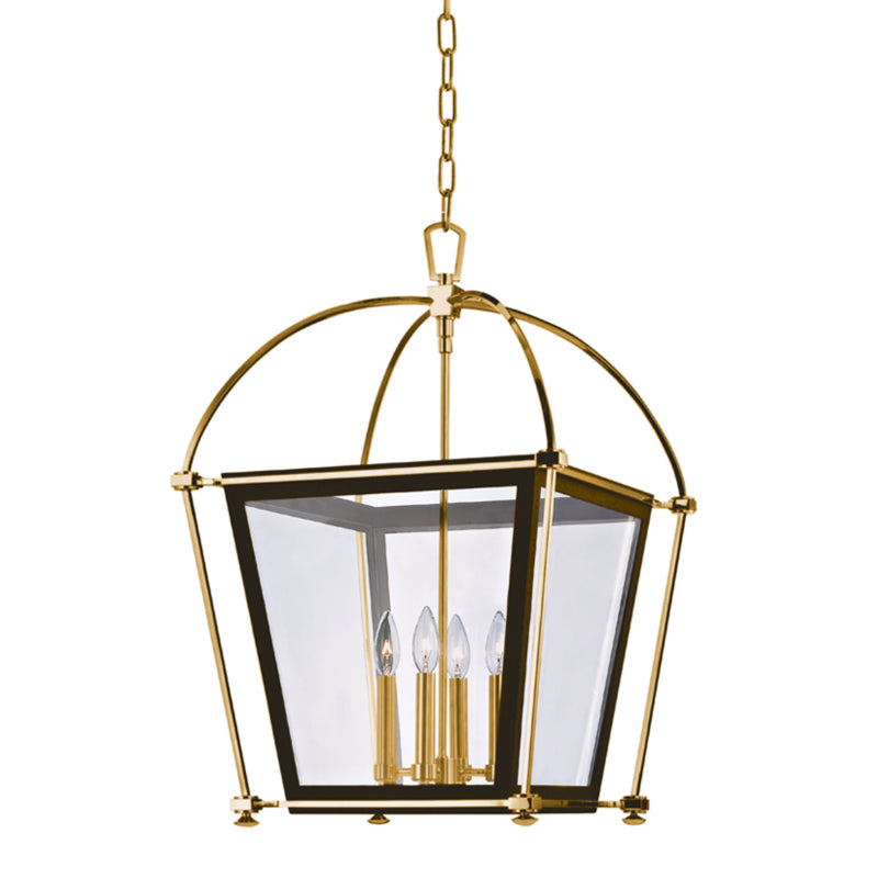Hudson Valley Lighting 3618-AGB Hollis 4 Light Pendant in Aged Brass