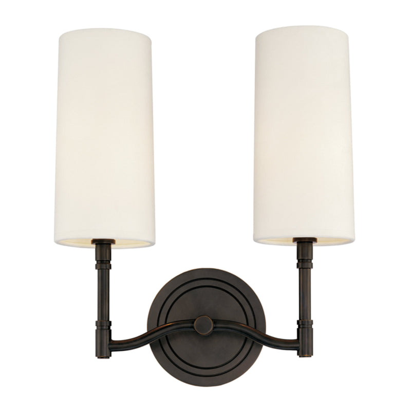 Hudson Valley Lighting 362-OB Dillon 2 Light Wall Sconce in Old Bronze