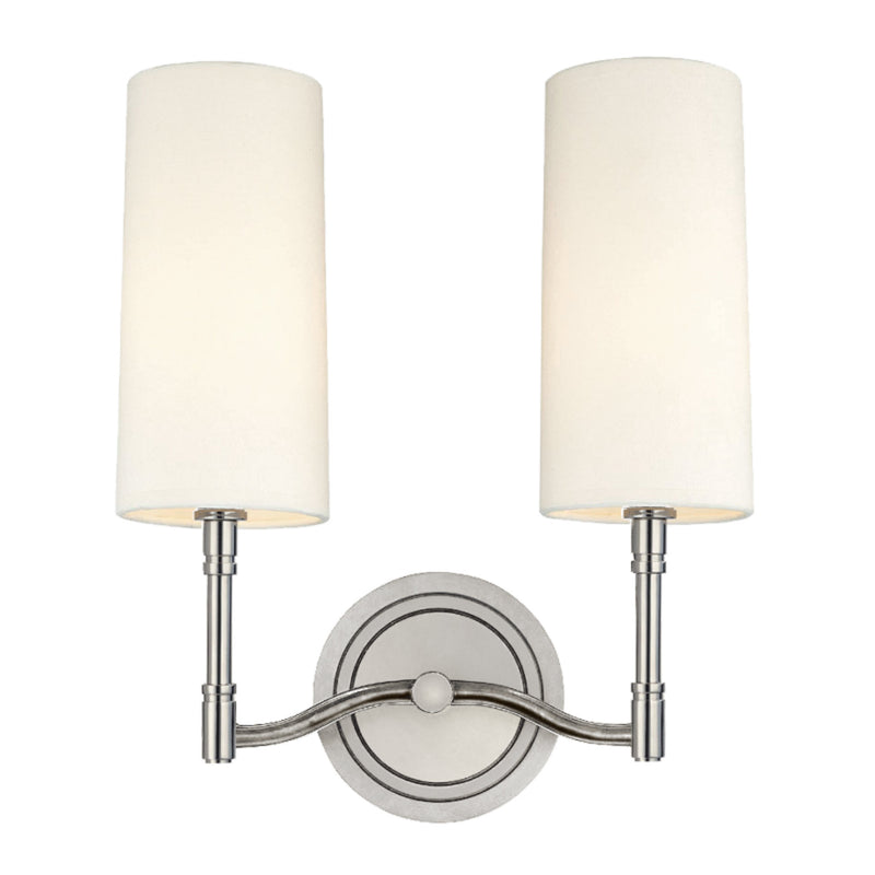 Hudson Valley Lighting 362-PN Dillon 2 Light Wall Sconce in Polished Nickel