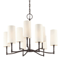 Hudson Valley Lighting 369-OB Dillon 9 Light Chandelier in Old Bronze
