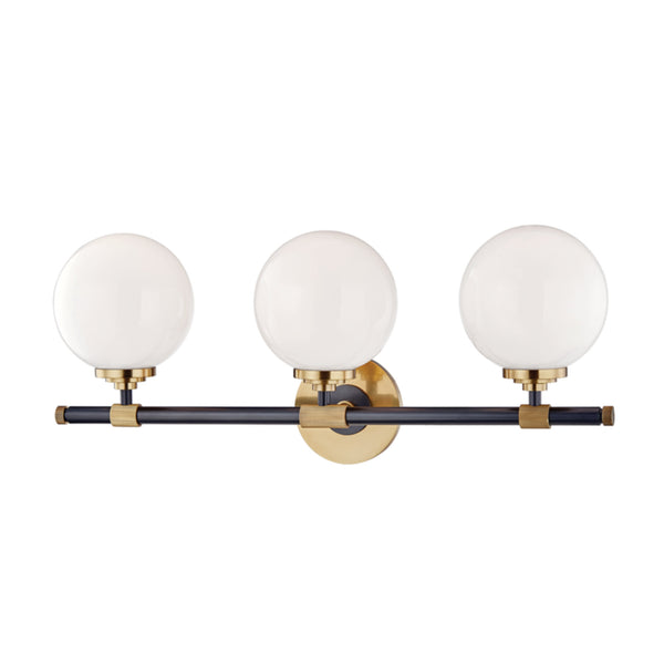 Hudson Valley Lighting 3703-AOB Bowery 3 Light Bath Bracket in Aged Old Bronze