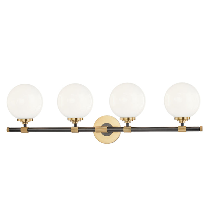 Hudson Valley Lighting 3704-AOB Bowery 4 Light Bath Bracket in Aged Old Bronze