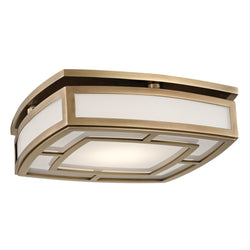 Hudson Valley Lighting 3713-AGB Elmore Large Led Flush Mount in Aged Brass