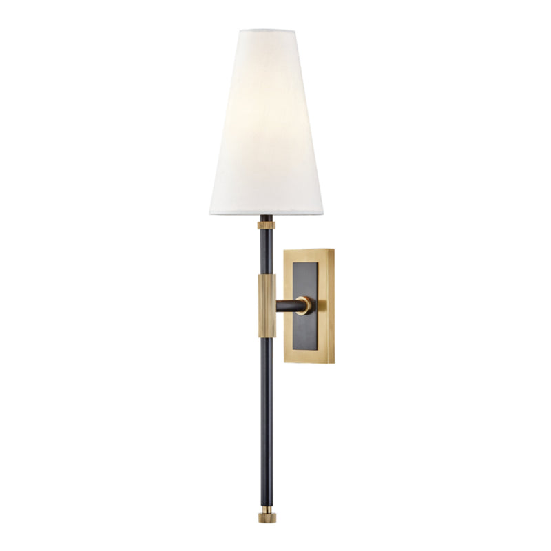 Hudson Valley Lighting 3721-AOB Bowery 1 Light Wall Sconce in Aged Old Bronze
