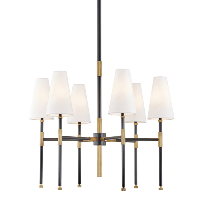 Hudson Valley Lighting 3728-AOB Bowery 6 Light Chandelier in Aged Old Bronze