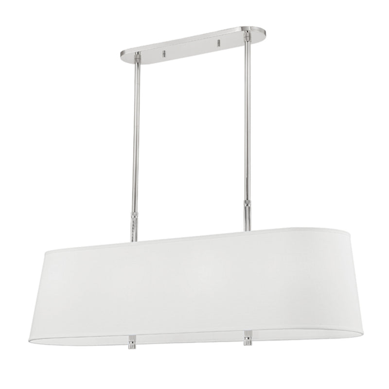 Hudson Valley Lighting 3747-PN Bowery 8 Light Island Light in Polished Nickel