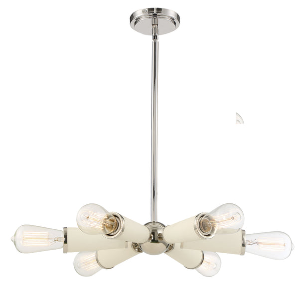 Crystorama 3807-PN Zodiac Chandelier in Polished Nickel