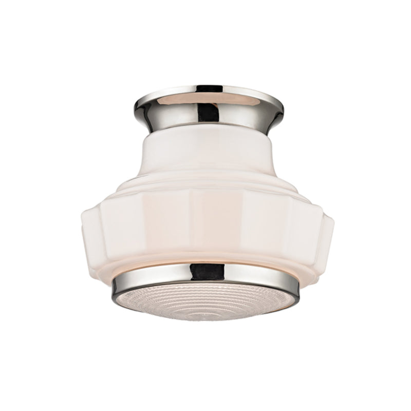 Hudson Valley Lighting 3809F-PN Odessa 1 Light Semi Flush in Polished Nickel