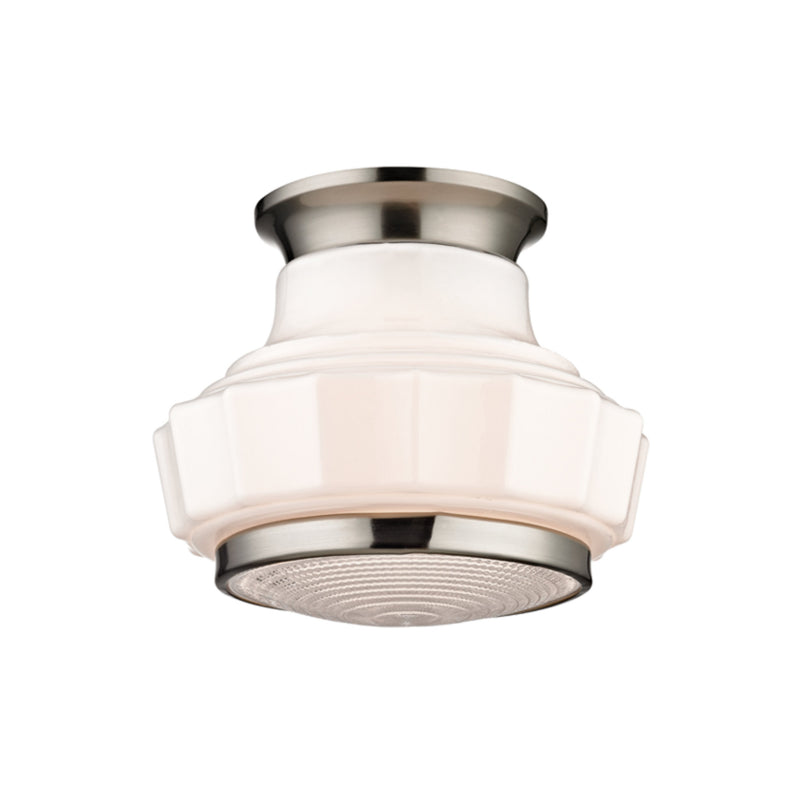 Hudson Valley Lighting 3809F-SN Odessa 1 Light Semi Flush in Satin Nickel