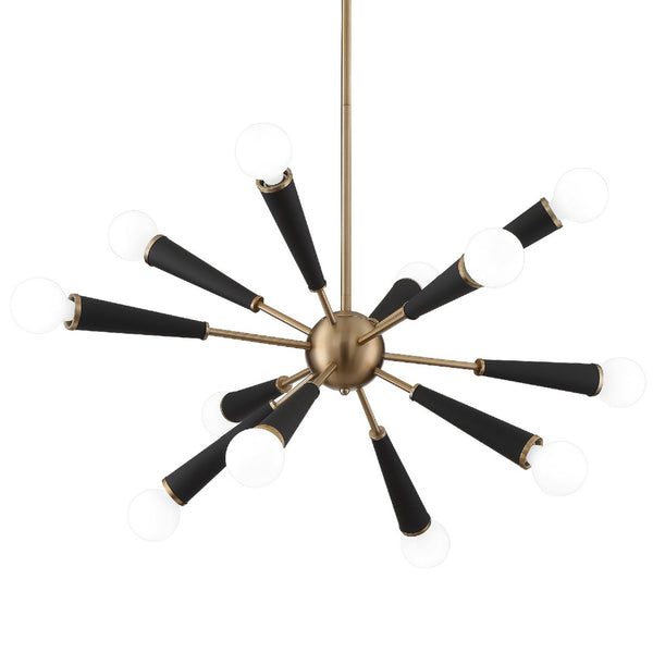 Crystorama 3812-AG Zodiac Chandelier in Aged Brass