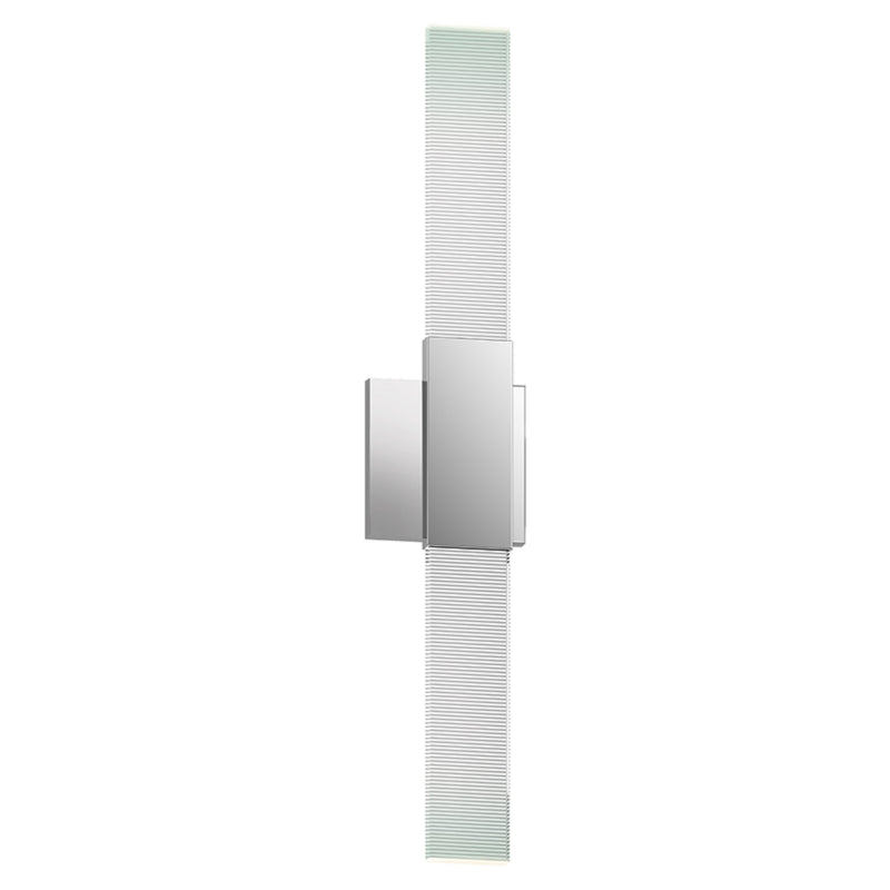 Sonneman 3812.01 Radiant Lines LED Double Sconce in Polished Chrome