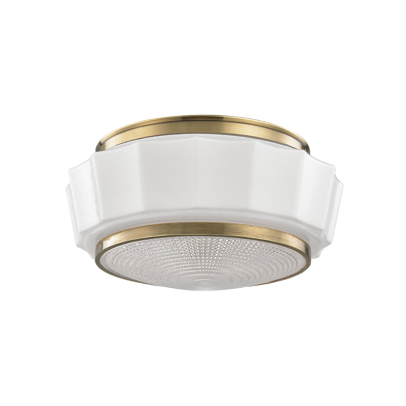Hudson Valley Lighting 3814F-AGB Odessa 2 Light Flush Mount in Aged Brass