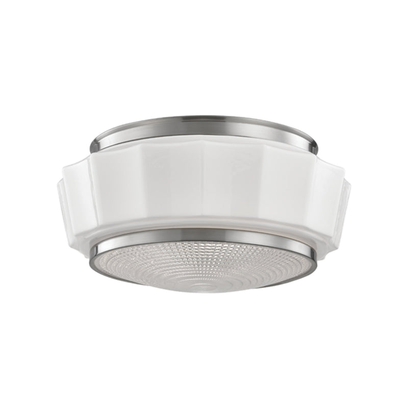 Hudson Valley Lighting 3814F-SN Odessa 2 Light Flush Mount in Satin Nickel