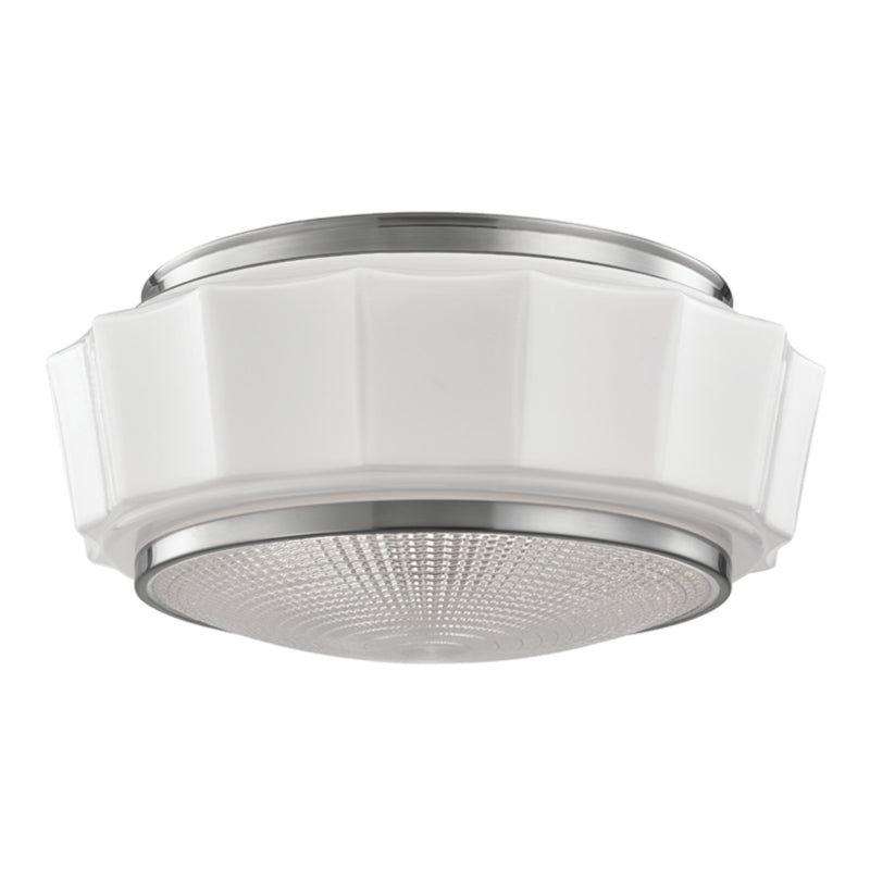 Hudson Valley Lighting 3816F-SN Odessa 3 Light Flush Mount in Satin Nickel