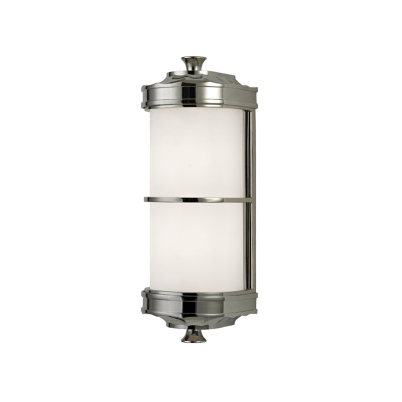 Hudson Valley Lighting 3831-PN Albany 1 Light Wall Sconce in Polished Nickel