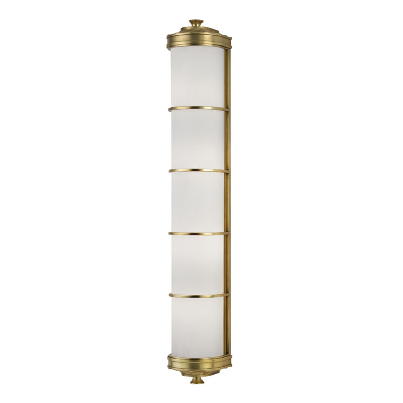 Hudson Valley Lighting 3833-AGB Albany 4 Light Wall Sconce in Aged Brass
