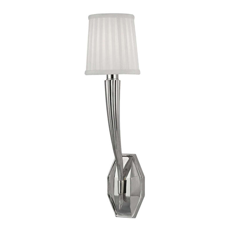 Hudson Valley Lighting 3861-PN Erie 1 Light Wall Sconce in Polished Nickel