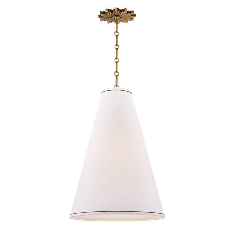 Hudson Valley Lighting 3916-AGB Worth 1 Light Large Pendant in Aged Brass