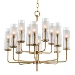 Hudson Valley Lighting 3925-AGB Wentworth 12 Light Chandelier in Aged Brass