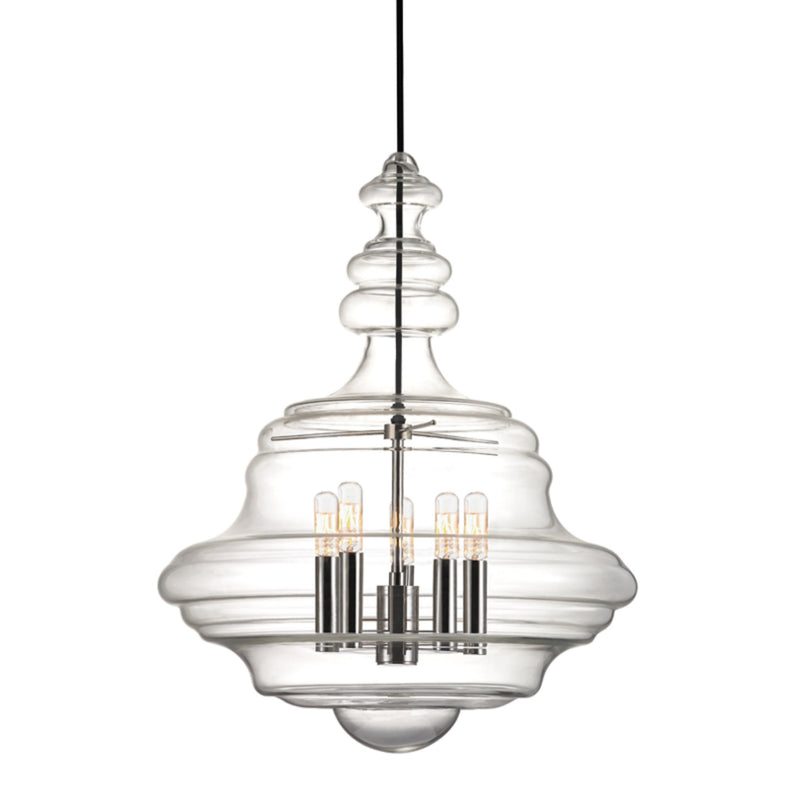 Hudson Valley Lighting 4020-PN Washington 5 Light Large Pendant in Polished Nickel