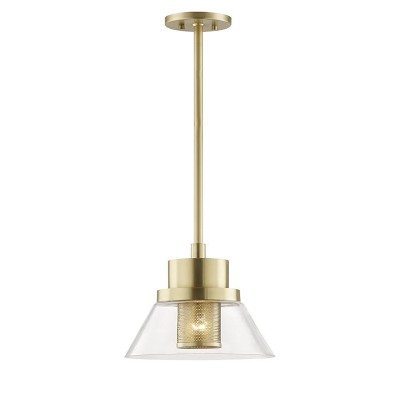 Hudson Valley Lighting 4031-AGB Paoli 1 Light Small Pendant in Aged Brass