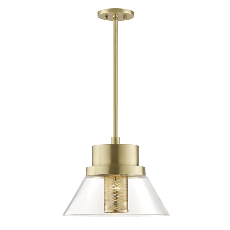 Hudson Valley Lighting 4032-AGB Paoli 1 Light Large Pendant in Aged Brass