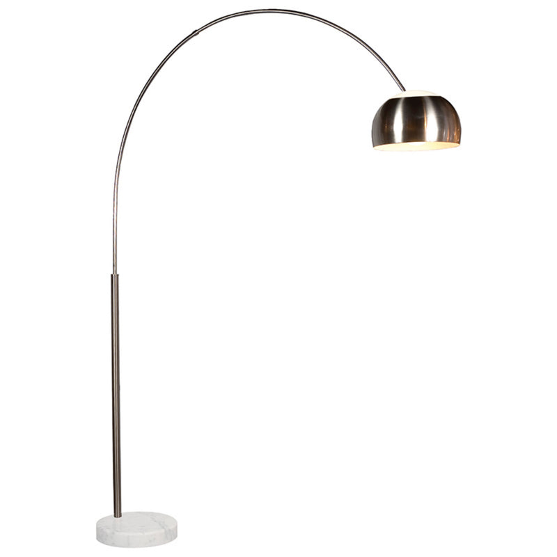 Sonneman 4096.13G Arc Floor Lamp in Satin Nickel